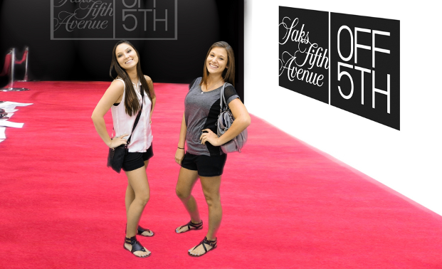 Green Screen photo shoot of red carpet for saks 5th avenue